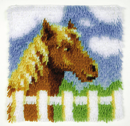 "WonderArt Pony 12"" x 12"" Latch Hook Kit"