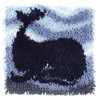 "WonderArt Big Blue Whale 12"" x 12"" Latch Hook Kit"