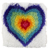 "WonderArt From The Heart 12"" x 12"" Shaggy Latch Hook Kit"