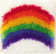 """WonderArt Rainbow 12"""" x 12"""" Shaggy Latch Hook Kit"""
