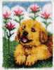 "WonderArt Flower Pup 15"" x 20"" Latch Hook Kit"