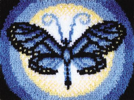 """WonderArt Butterfly Moon 15"""" x 20"""" Latch Hook Kit"""