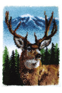"WonderArt Deer 20"" x 30"" Classic Latch Hook Kit"