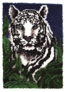 "WonderArt White Tiger 24"" x 34"" Latch Hook Kit"
