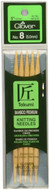 "Clover Tools Takumi Bamboo 5-Pack 5"" Double Point Knitting Needles (Size US 8 - 5 mm)"