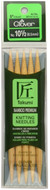 """Clover Tools Takumi Bamboo 5-Pack 5"""" Double Point Knitting Needles (Size US 10.5 - 6.5 mm)"""