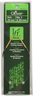 "Clover Tools Takumi Bamboo 9"" Circular Knitting Needle (Size US 1 - 2.25 mm)"