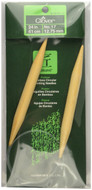 "Clover Tools Takumi Bamboo 24"" Circular Knitting Needle (Size US 17 - 12.75 mm)"