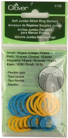 Clover Tools 20-Pack Soft Jumbo Stitch Ring Markers