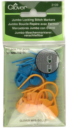 Clover Tools 12-Pack Jumbo Locking Stitch Ring Markers