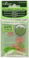 Clover Tools 16-Pack Triangle Stitch Markers (Small)