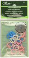 Clover Tools 24-Pack Split Ring Markers