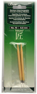 Clover Tools Takumi Bamboo Interchangeable Circular Knitting Needles (Size US 10 - 6 mm)