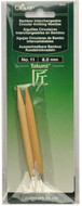 Clover Tools Takumi Bamboo Interchangeable Circular Knitting Needles (Size US 11 - 8 mm)