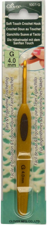Clover Tools Soft Touch Crochet Hook (Size US G-6 - 4 mm)