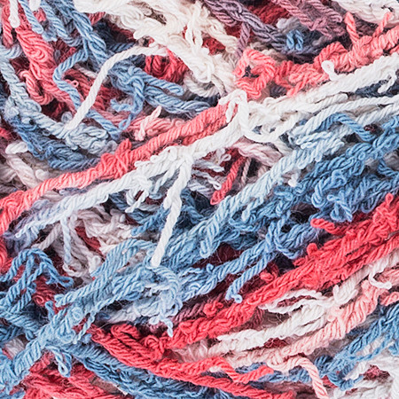 Red Heart Nautical Print Scrubby Cotton Yarn (4 - Medium)