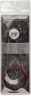 "Boye Artisan Tools 29"" Nickel-Plated Circular Knitting Needle (Size US 10.5 - 6.5 mm)"