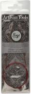 "Boye Artisan Tools 24"" Aluminium Square Circular Knitting Needle (Size US 1 - 2.25 mm)"