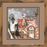 Riolis Cross Stitch Cats In Winter Cross Stitch Kit