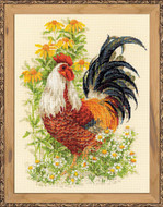 Riolis Cross Stitch Rooster Cross Stitch Kit