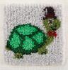 "WonderArt Turtle 12"" x 12"" Latch Hook Kit"