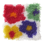 "WonderArt Flowers 12"" x 12"" Shaggy Latch Hook Kit"