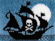 "WonderArt Pirate Ship 15"" x 20"" Latch Hook Kit"