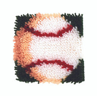 "WonderArt Baseball 8"" x 8"" Latch Hook Kit"