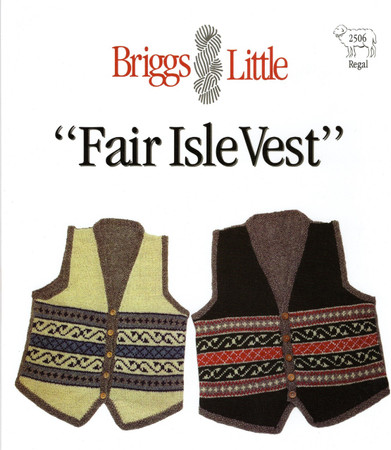 Fair Isle Vest Briggs & Little Pattern