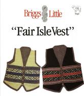 Fair Isle Vest Briggs & Little Pattern