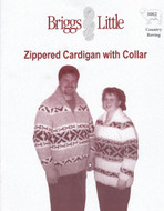 Zippered Cardigan With Collar Briggs & Little Pattern
