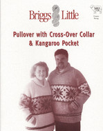 Pullover With Crossover Collar And Kangaroo Pocket Briggs & Little Pattern