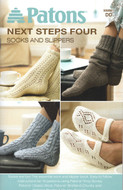 """Patons Assorted Yarns """"Socks And Slippers"""" Pattern Book"""