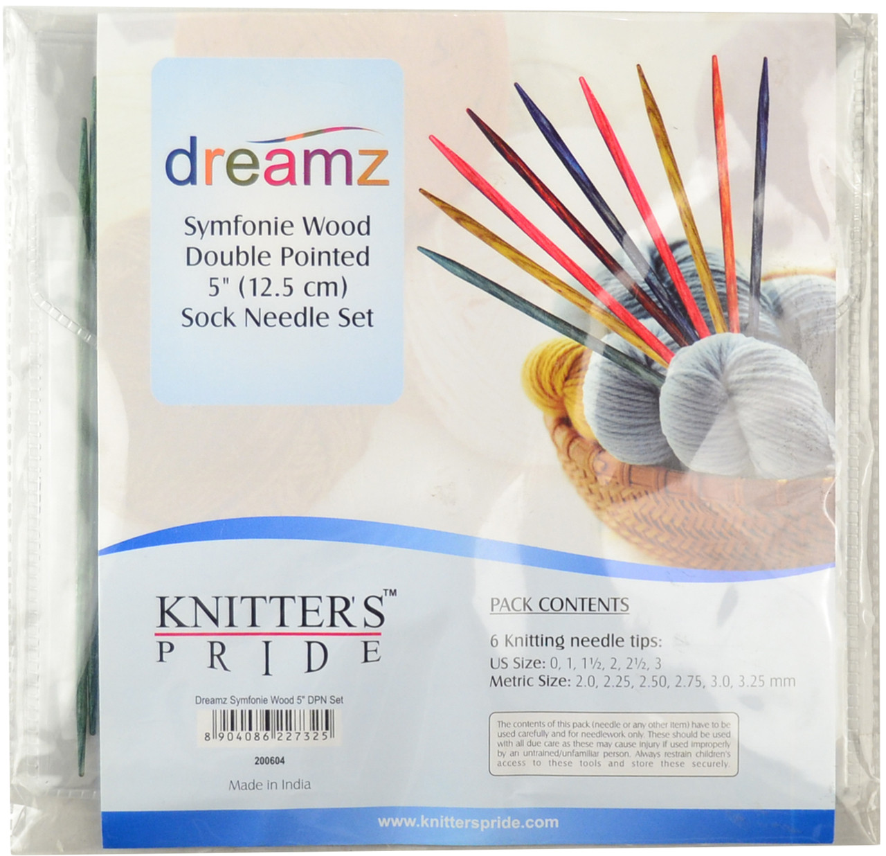 Knitter S Pride Symfonie Dreamz 30 Pack 5 Double Pointed Knitting Needles Set Free Shipping At Yarn Canada