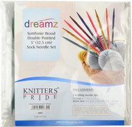 "Knitter's Pride Symfonie Dreamz 30-Pack 5"" Double Pointed Knitting Needles Set"