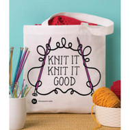 Boye Tools Knit It Knit It Good Printed Tote Bag