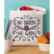 Boye Tools No Skein No Gain Printed Tote Bag