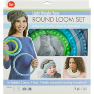Boye Tools 5 pc Round Loom Set For Light Weight Yarns