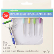Boye Tools 5 pc Adjustable Punch Needle Replacement Needles Set