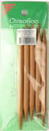 """ChiaoGoo Tools 5-Pack 6"""" Bamboo Double Point Knitting Needles (Size US 13 - 9 mm)"""