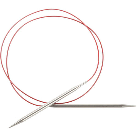 """ChiaoGoo Tools Knit Red Lace 40"""" Stainless Steel Circular Knitting Needles (Size US 13 - 9 mm)"""