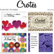 ChiaoGoo Tools 8-Pack Crochet Note Card Set (4 Designs)