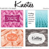 ChiaoGoo Tools 8-Pack Knitting Note Card Set (4 Designs)