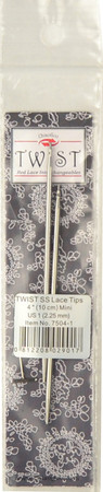 """ChiaoGoo Tools 2-Pack Twist Red Lace 4"""" Mini Interchangeable Tips (Size US 1 - 2.25 mm)"""
