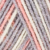 Red Heart Pink/Grey Print Comfort Yarn (4 - Medium)