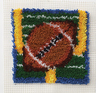 "WonderArt Touchdown 12"" x 12"" Latch Hook Kit"