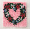 "WonderArt Heart Wreath 12"" x 12"" Latch Hook Kit"