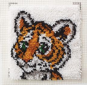 """WonderArt Tiger Cub 12"""" x 12"""" Latch Hook Kit"""