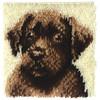 "WonderArt Chocolate Dog 12"" x 12"" Latch Hook Kit"