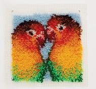 """WonderArt Lovebirds 12"""" x 12"""" Latch Hook Kit"""